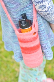 felted water bottle carrier | by waldorf mama