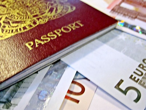 Passport and Euros | by Images_of_Money
