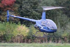 G-HIZZ - 1997 build Robinson R22 Beta II, inbound to Barton for a re-fuel