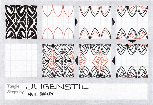 Jugenstil - tangle pattern | by perfectly4med