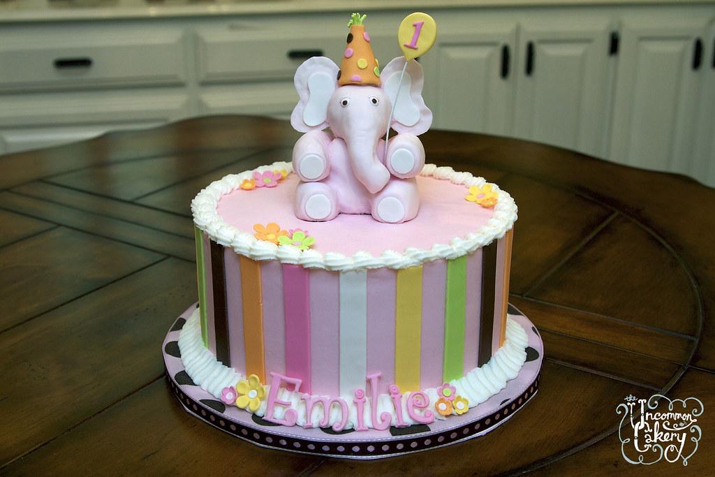 Elephant Buttercream Baby Shower Cake