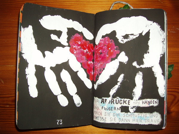 Wreck This Journal Page Is For Handprints Or Fingerp