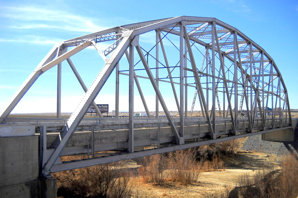The Rio Puerco Bridge Is A Parker Through Truss Bridge Loc