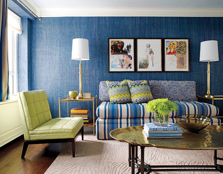 Cheerful Glamour Blue Green Guest Bedroom By Jamie Drak