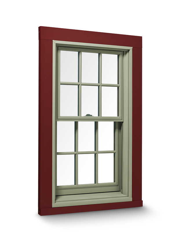400 series double hung window with exterior trim for Cost of andersen windows
