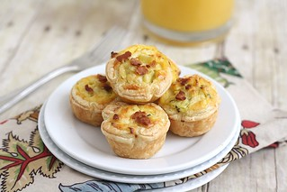 Bacon, Leek and Cheddar Mini Quiches | by Tracey's Culinary Adventures