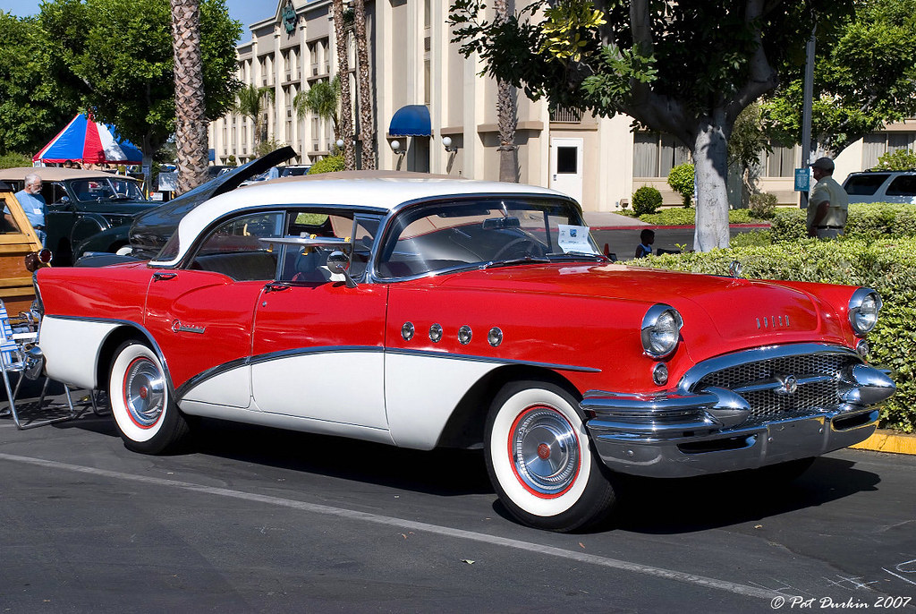1955 buick century model 63 4 dr ht white over red f for 1955 buick roadmaster 4 door