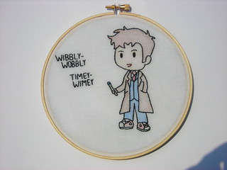 Doctor Who 10th embroidery | by spike_fan