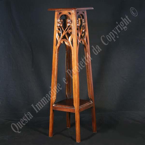 Portafiori in legno portafiori in legno massello con 2 for Portafiori in legno