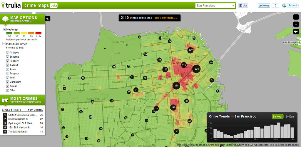 Crime Map San Francisco Trulia Flickr