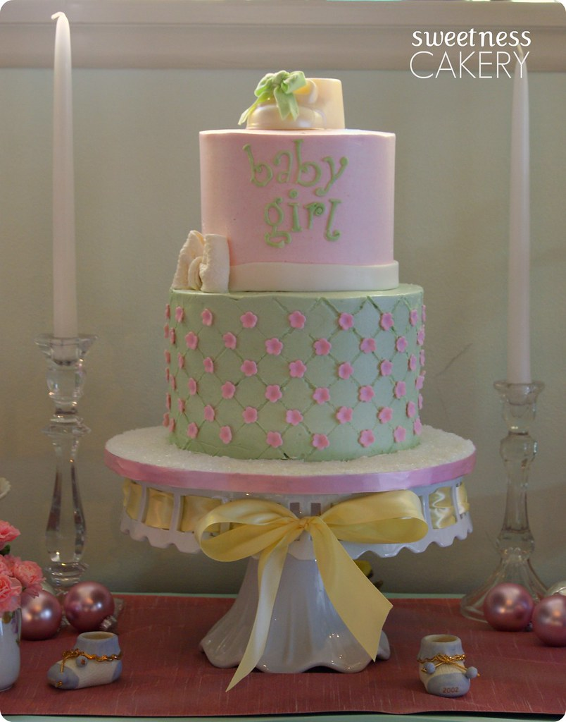 shabby chic baby shower cake a sweet shabby chic baby show