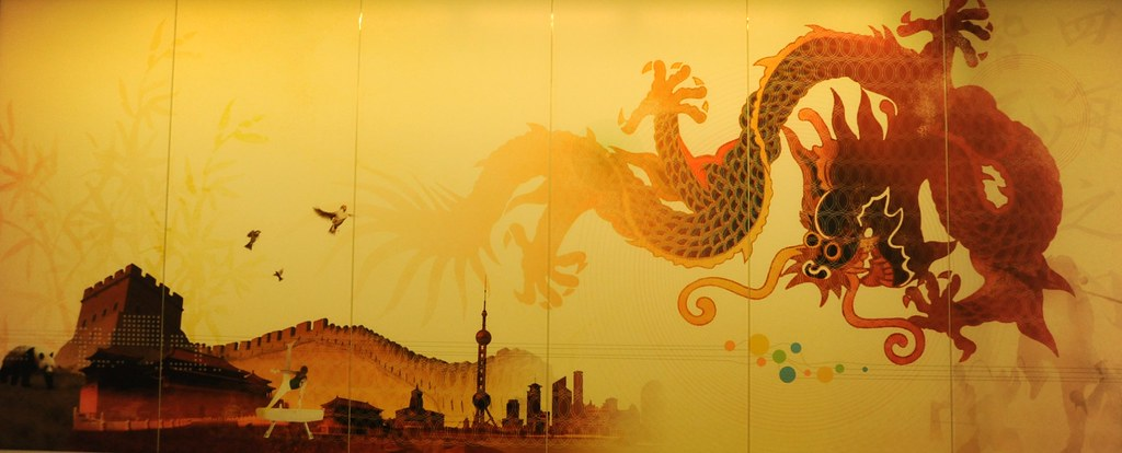 Dragon, Great Wall of China, birds, city, gymnast, Chinese ...