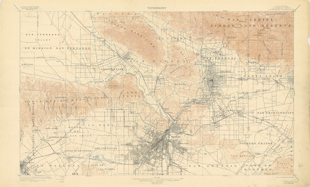 Fletcher Topographic Map Of Los Angeles Map May Be Vi Flickr - Los angeles topographic map