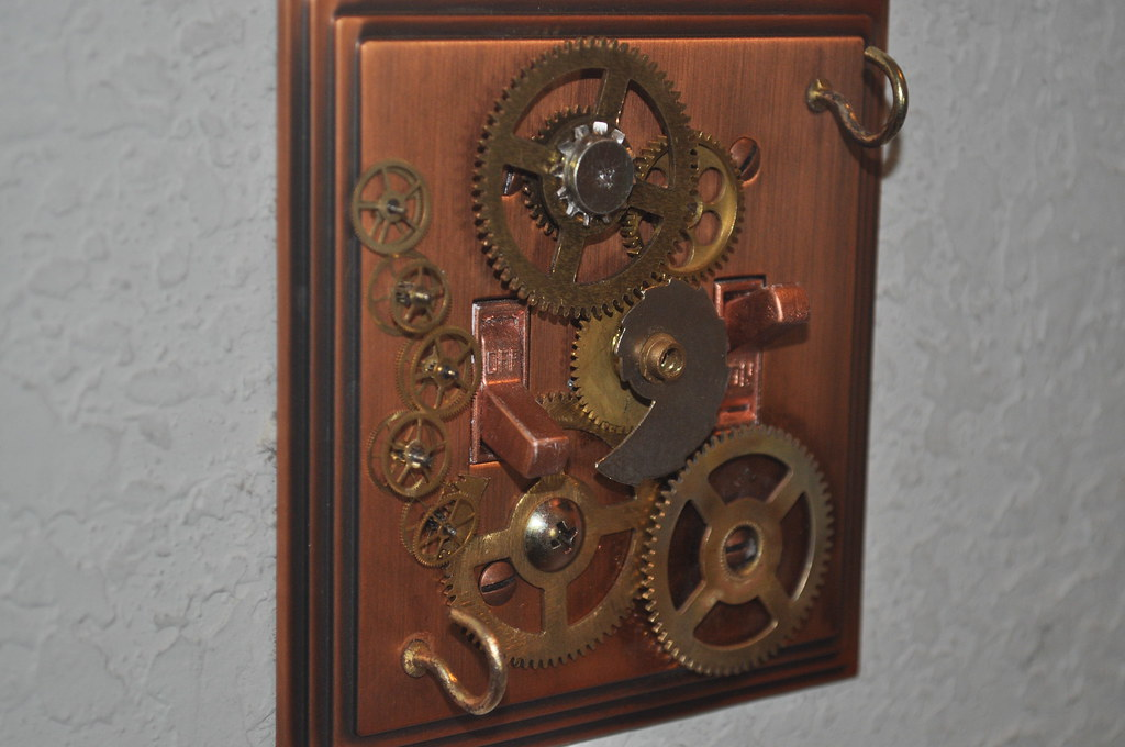 Steampunk Lightswitch Plate Cover This Is A One Off Hand