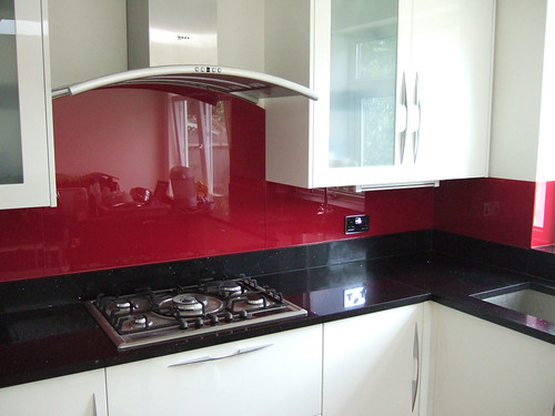 Glass Kitchen Splashback In Red Matthew Smith Flickr