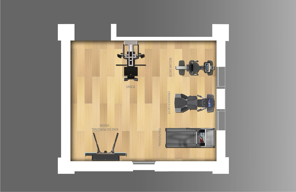 Home gym in mq layout technogym the wellness