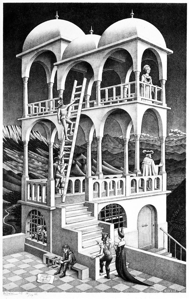 Belvedere m c escher 1958 39 m c escher universos - M a interiorismo cb granada ...