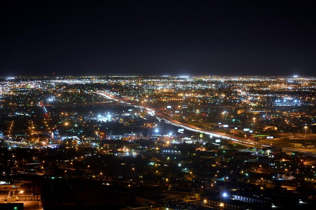 El Paso Texas At Night J Martinez Flickr
