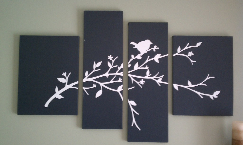 Wall Art Take 4 Canvases 2 Of Each Size Paint Them A