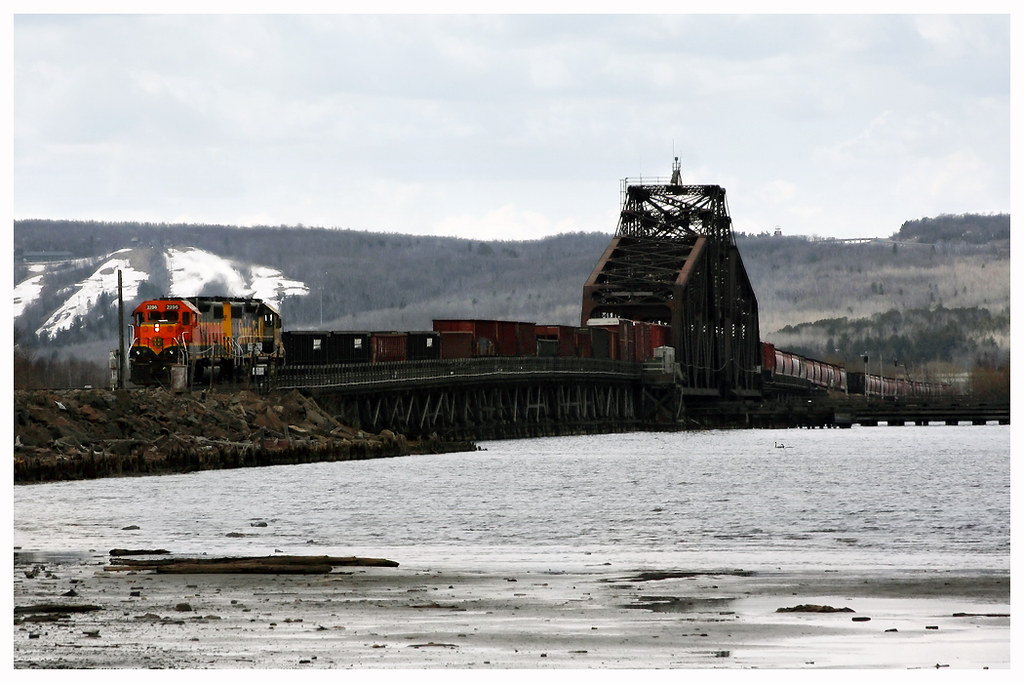 Grassy Point Bridge Bnsf Saint Louis River Railroad