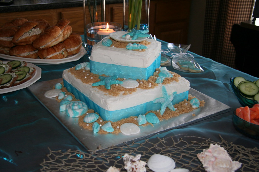 Beach Themed Bridal Shower Cake I Ve Been Wanting To Do