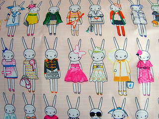 fifi lapin designer fabric | by www.madebylova.wordpress.com