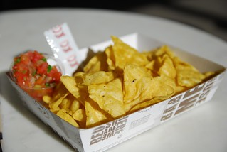 Tortilla Chips AUD2, Salsa AUD1 - Mad Mex, Melbourne Central | by avlxyz