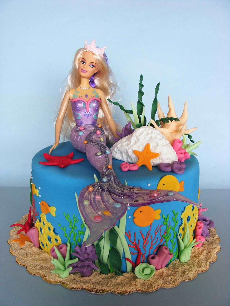 Barbie Mermaid Cake Images : Mermaid cake A cake for Maria ????????? ?? bubolinkata ...