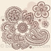 Huge Ornate Henna Paisley Doodle Tattoo Flower and Swirls by blue67design