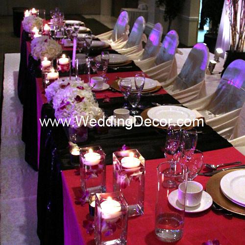 Head Table Decorations Black Amp Fuchsia Head Table
