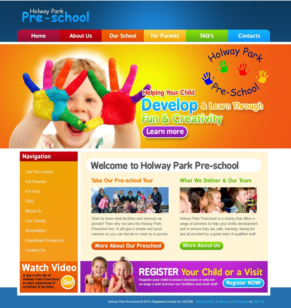 Holway Preschool Website Design By Adk Design Adkltd