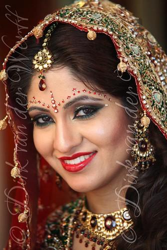 Indian Bride Portrait British Asian Asiana Wedding Photography Traditional Asian Bride