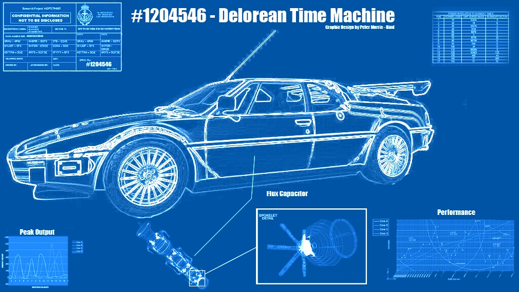 Delorean blueprint apoclyofable flickr for How to build a blueprint