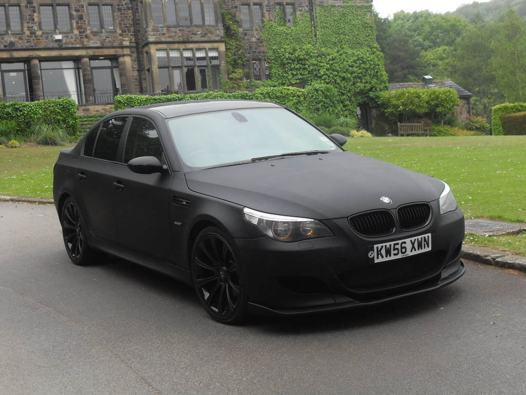 bmw m5 e60 matte black images. Black Bedroom Furniture Sets. Home Design Ideas