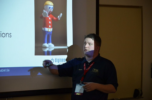 Jason Strate at SQL Saturday | by Michael Kappel