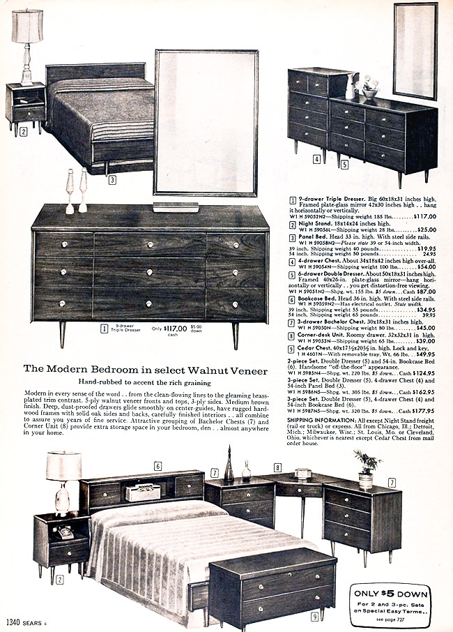 Sears 1960 Fall Catalog Bedroom Furniture Kimberly Lindbergs Flickr