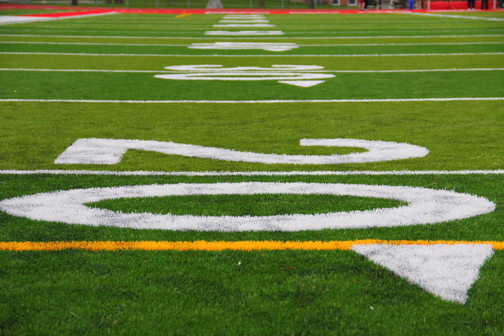 Football, Football Field, Turf, 20 Yard