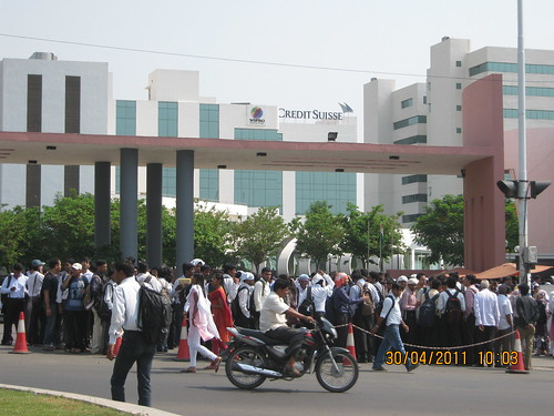 Rush For The Job Interview At Wipro Hinjewadi Phase 2