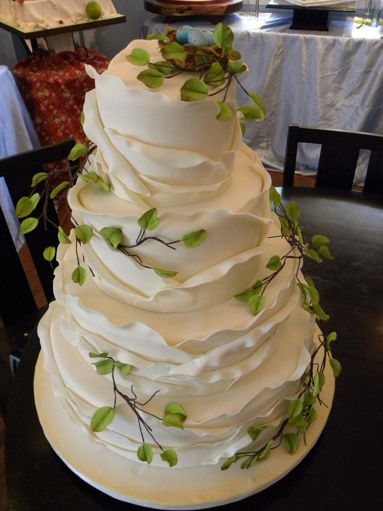 nature inspired wedding cakes ruffles and nature wedding cake s baking co 17722
