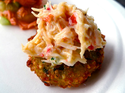 Mary Sue Milliken's Crab & Quinoa Fritter, Taste of the Nation 2011 | by MyLastBite