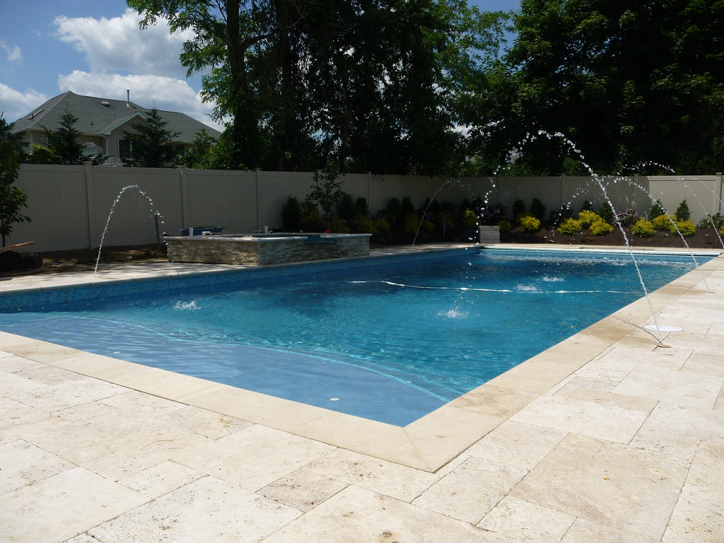 Classic Rectangle Pool In Nj Custom Concrete Rectangle