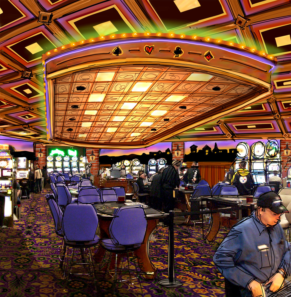 Interior Casino Design Casino Interior Sketch Conceptu