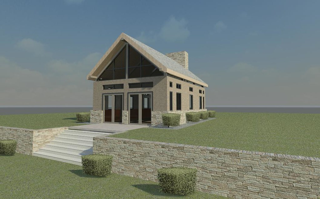 Revit pool house exterior rendering revit rendering - Revit exterior rendering settings ...
