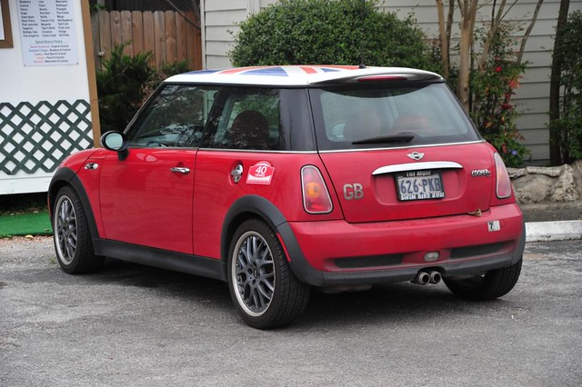 mini cooper s with union jack flag roof graphic flickr. Black Bedroom Furniture Sets. Home Design Ideas