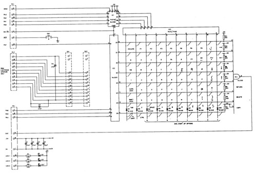 bbc model b keyboard circuit