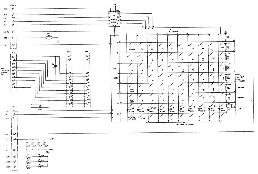 schematic diagram wire engine schematic schematic diagram keyboard bbc model b keyboard circuit | this is the circuit diagram ...
