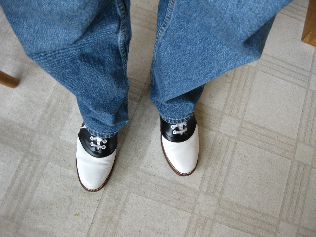 White Soled Saddle Shoes