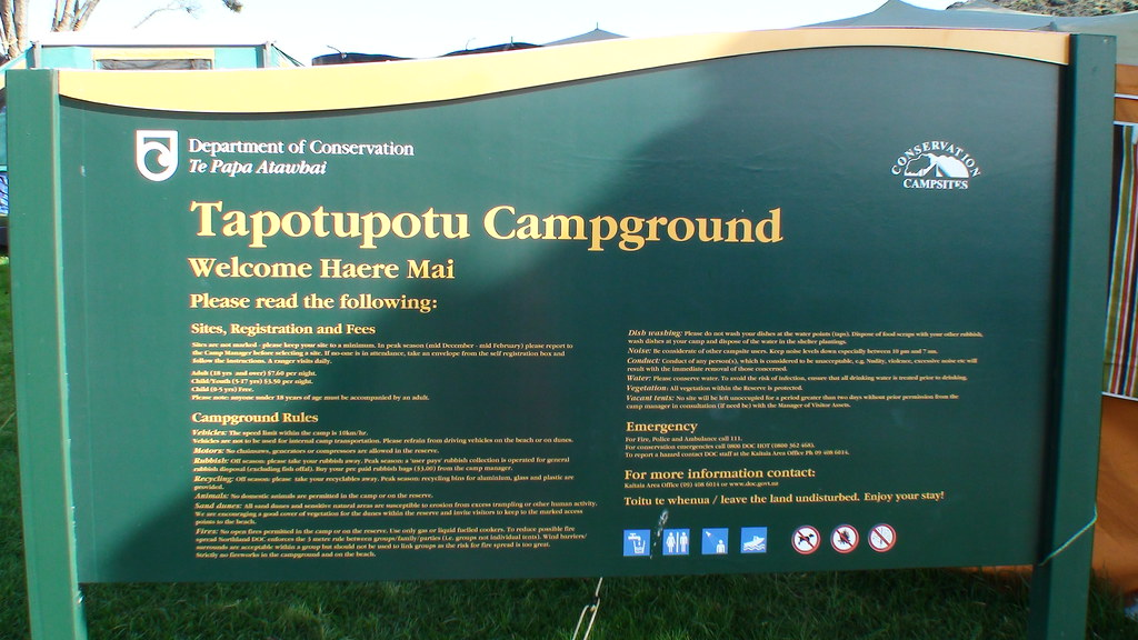 """Tapotupotu"" Campground Sign"