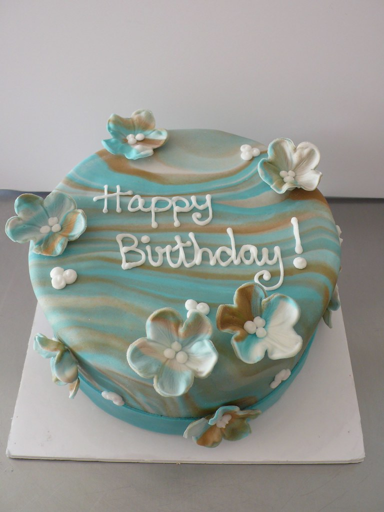 Marble Fondant Cake This Cake Was Made For Another One