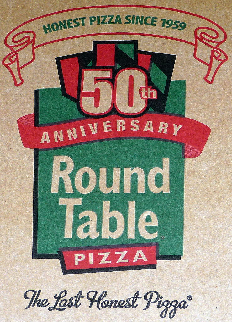 round table pizza box logo may 2010 great pizza 50th anniv flickr. Black Bedroom Furniture Sets. Home Design Ideas